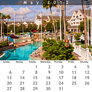 May 2012 Jewel Case Calendar